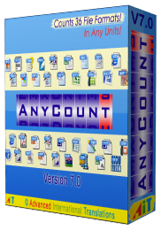 AnyCount Word Count, Character Count and Line Count Software